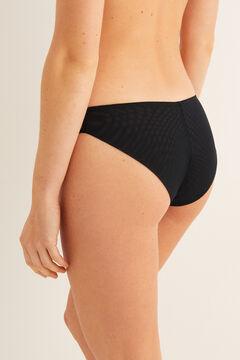 Womensecret Классические трусики из сетчатой ткани с кружевом черный
