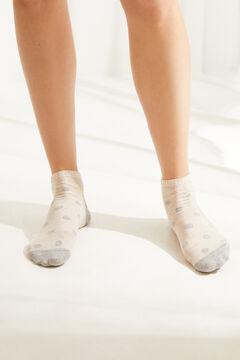 Womensecret Короткие хлопковые носки с принтом «Щенок»  цветной