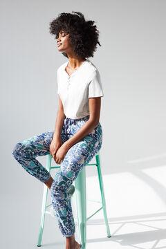 Womensecret Длинные синие брюки из хлопка, созданные совместно с Coordonné серый