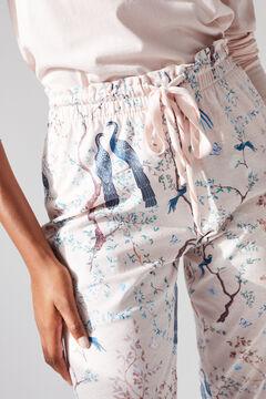 Womensecret Длинные розовые брюки из хлопка, созданные совместно с Coordonné розовый