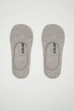 Womensecret Короткие хлопковые носки с люрексом  серый