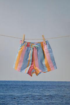 Womensecret Детские короткие купальные шорты в разноцветную полоску цветной