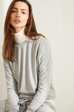 Womensecret Теплая длинная пижама с плюмети серого цвета серый