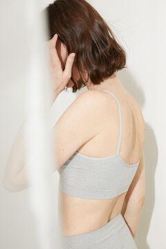 Womensecret Бесшовный топ халтер со съемными чашками серого цвета серый