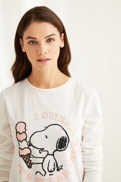 Womensecret Пижама с длинными рукавами «Снупи» белый