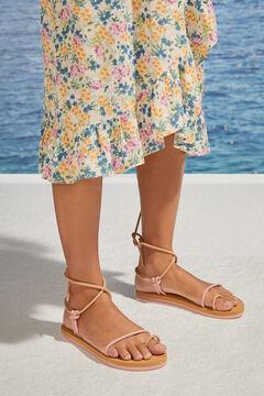 Womensecret Сандалии с ремешками розового цвета розовый