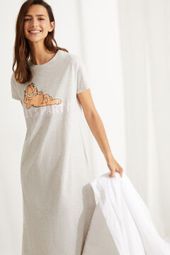 Womensecret Короткая ночная рубашка из хлопка «Гарфилд» серый