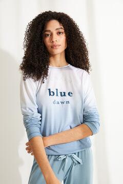 Womensecret Синяя пижама с верхом с длинными рукавами из невероятно мягкого трикотажа. голубой