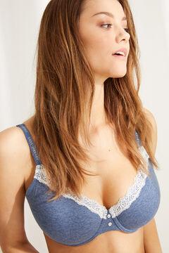 Womensecret BEAUTIFUL Классический бюстгальтер с наполнителем  голубой