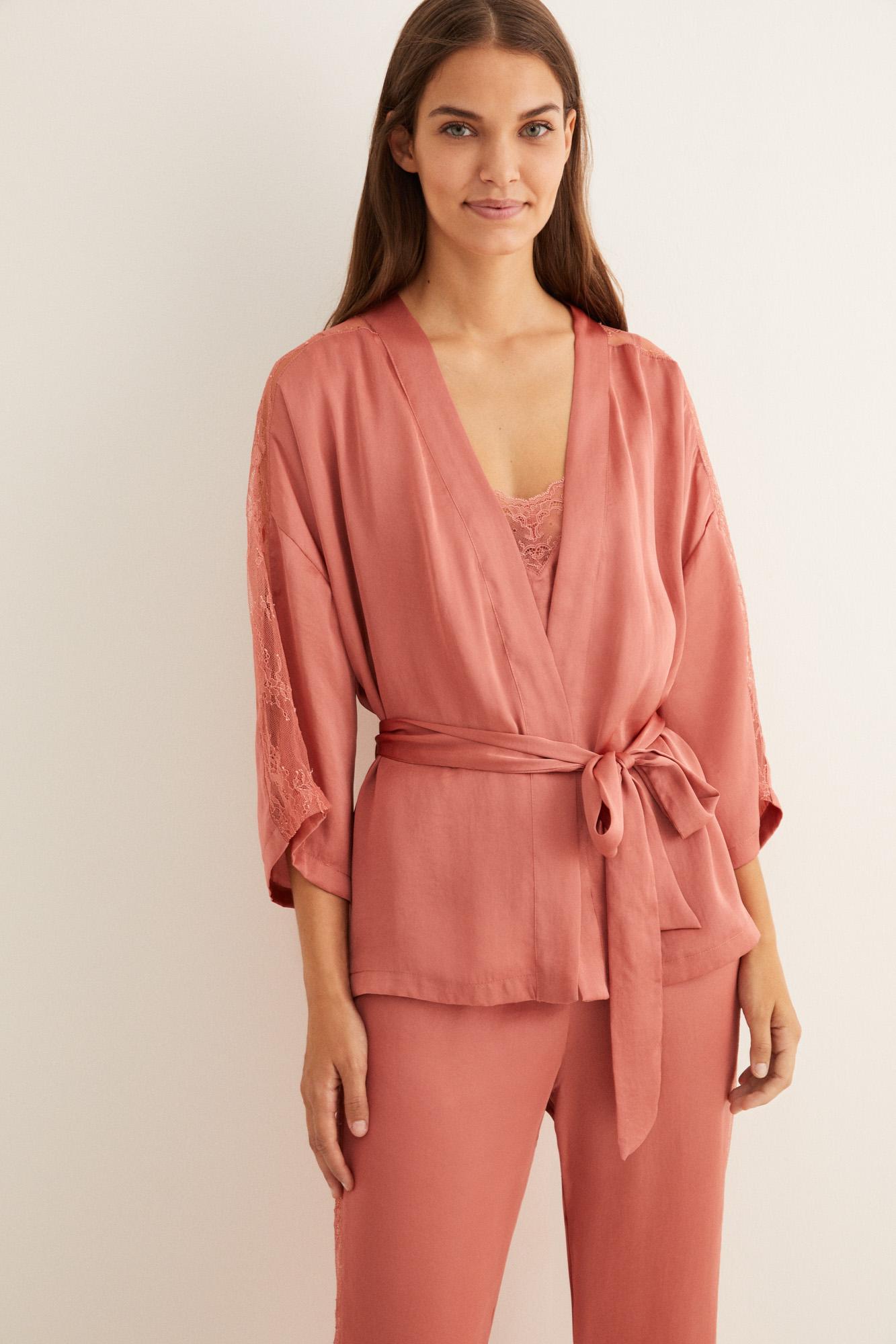 Длинная пижама: комплект из трех вещей | Комплекты пижам | Women