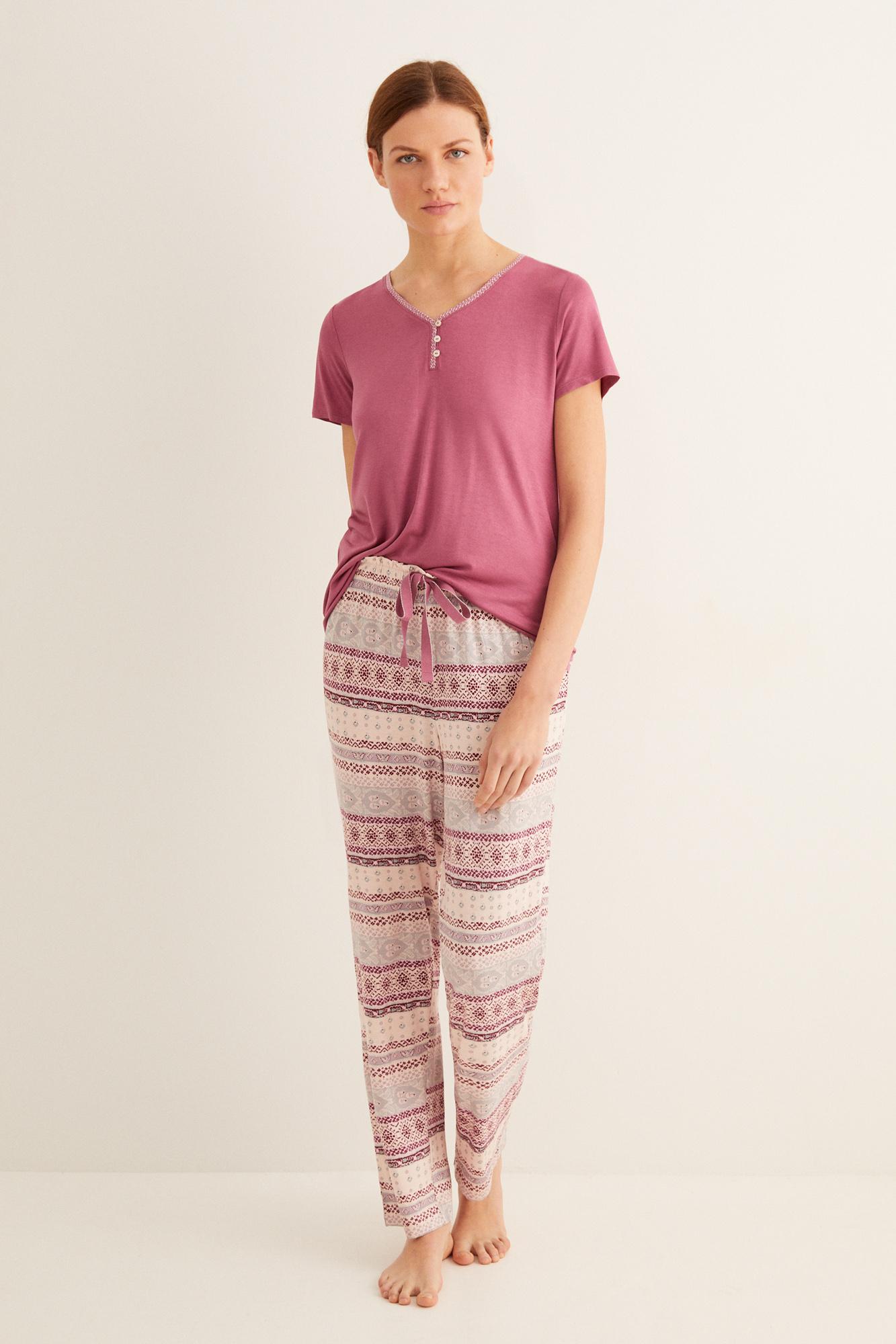 Длинная пижама с принтом | Длинные пижамы | Women